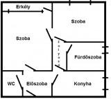 Eladó Kecskemét Hunyadiváros Teleki Pál téren 49 m2-es lakás 10 M Ft