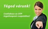 OTP Ingatlanpont értékesítők jelentkezését várja